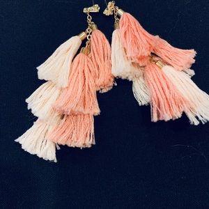 SUGARFIX Multi tassel drop earrings